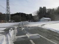 雪道交差点