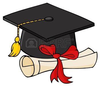 9634046-大学院の黒の帽子と卒業証書