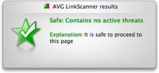 AVG LinkScanner results