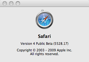 about Safari 4 beta SecurityUpdate