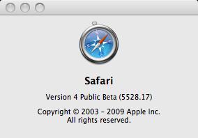 about Safari 4 beta SecurityUpdate
