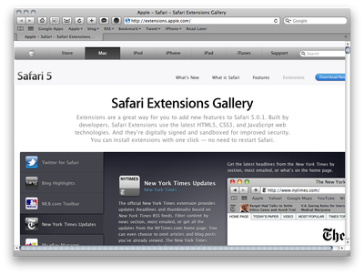 Safari Extentions Gallery