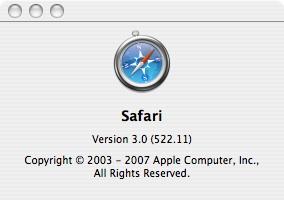 Safari 3.0 Public beta
