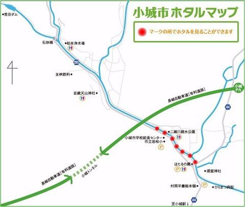 祇園川の蛍マップ