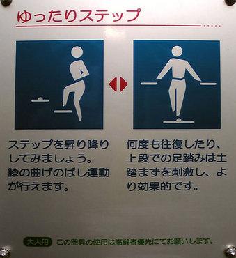 20100424 鷺宮6丁目 鷺六公園 健康づくり 中野区 健康器具 ゆったりステップ 使用説明