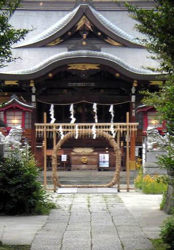 20090613鷺宮八幡神社 茅の輪02