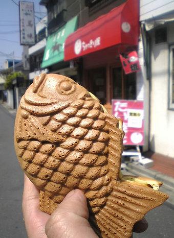20100410 ちゃっきり屋 鷺宮4丁目 タイヤキ たい焼き ビーフカレーたい焼き