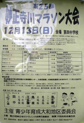 20091212妙正寺川マラソン大会