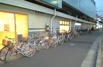 20070120富士見台駅の公害自転車