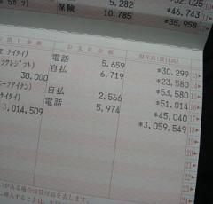 ゆうちょ銀行より300万振込【設楽民代】1