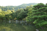 背景の嵐山