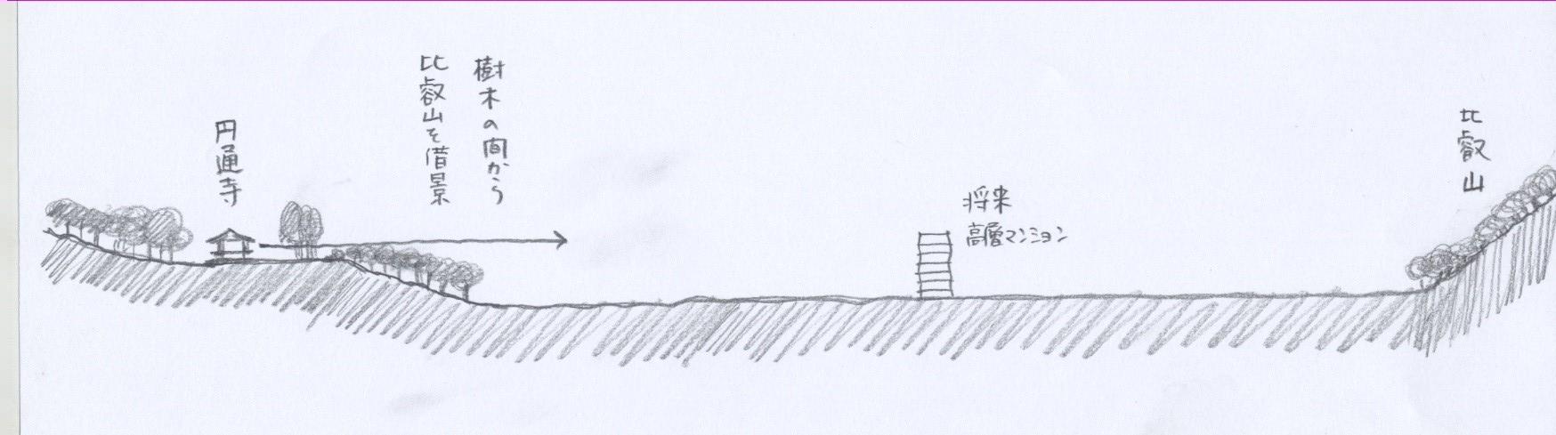 円通寺 断面図2