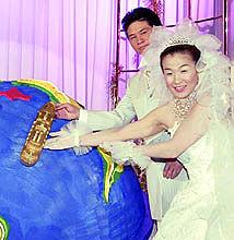 谷亮子谷佳知結婚式