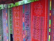 タイ族の手織り生地