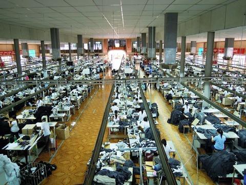 米国向け大型縫製工場
