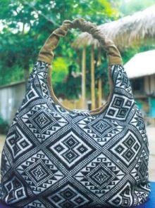 タイ族の綿生地のバッグ