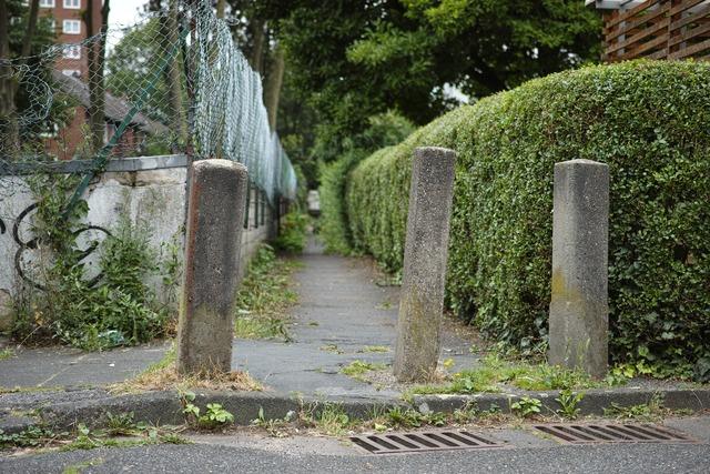 小道の入口