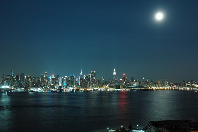 Moonlit Manhattan