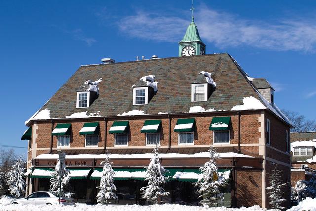 Snowy Town Scene