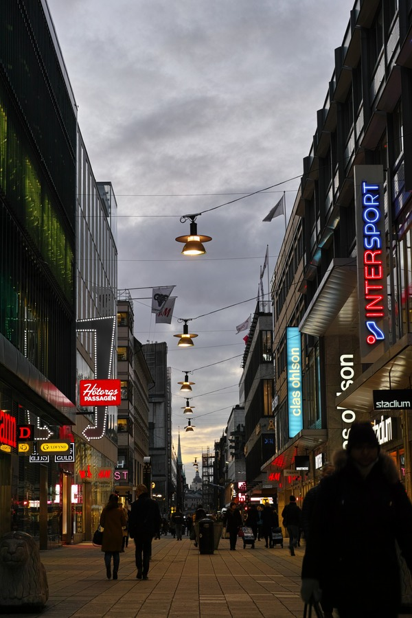 Winter Shopping Street