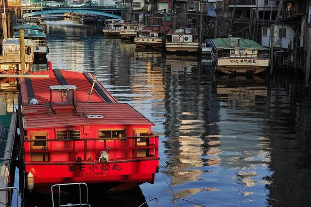 屋形船の休息