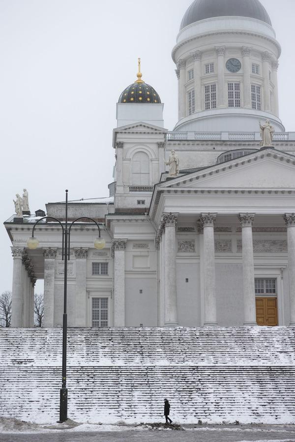 冬のヘルシンキ大聖堂
