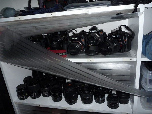 カメラたちが出番を待っている・・・