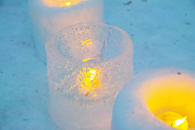 Snow Candle Lights