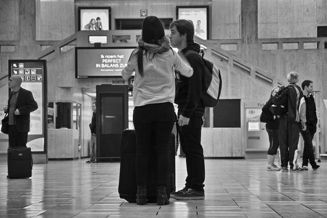 ブリュッセル(モノクロ)中央駅