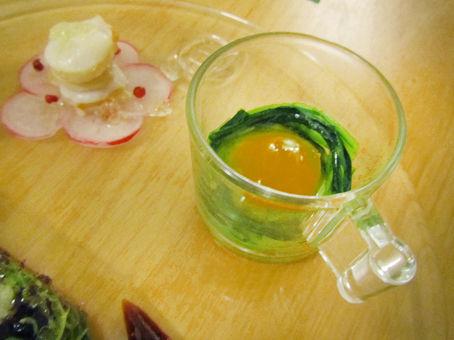 黄身のオリーブオイル漬け