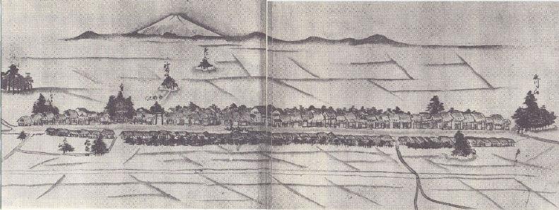 文政年間の与野町並絵図