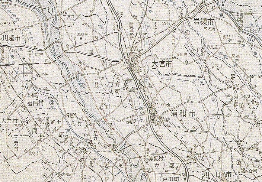 昭和二十二年九月洪水氾濫図をみ...