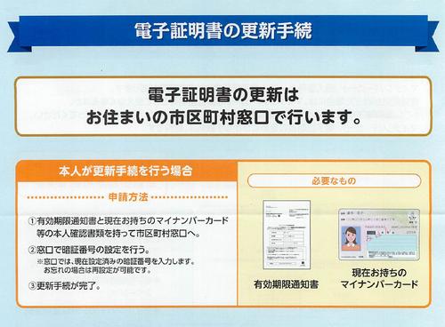 マイナンバーカード電子証明書更新