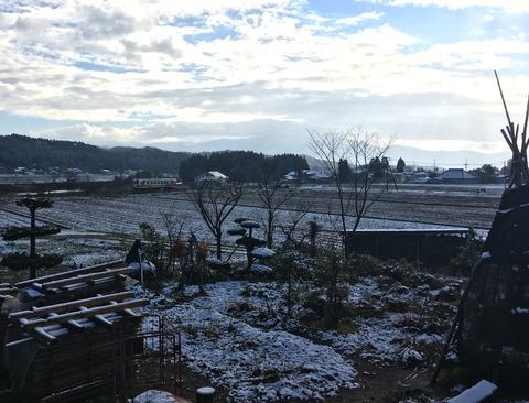 今日の内陸線 【56】雪降った!
