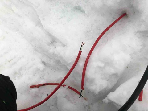 除雪機で切ったよ