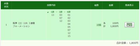大阪スポーツ杯買い目