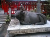 水鏡天満宮牛の像