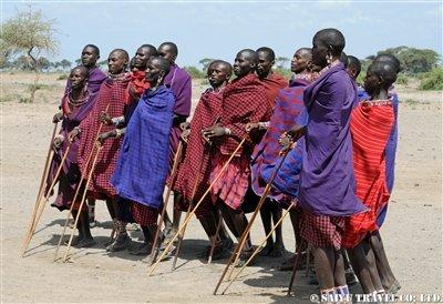 アンボセリ マサイ族の男性達DSC_1769