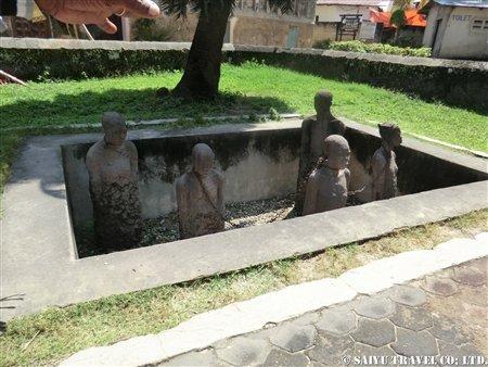 ザンジバル・旧奴隷市場のモニュメント