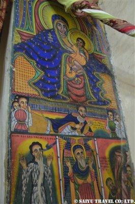 ■古いシオンの聖マリア教会内部の壁画 (2)
