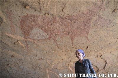 テルケイ西 大きな牛の壁画