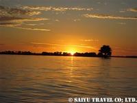 夕暮れのチョベ川