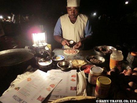 ザンジバル・夜の屋台・ザンジバルピザ