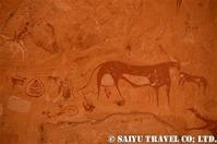 マンダゲリ ウシと遊牧民のテント