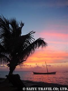 日没後の素晴らしい夕焼け