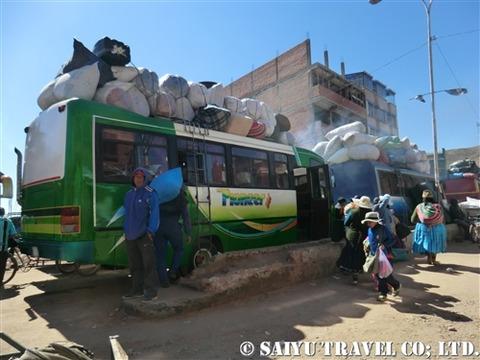 デサグアデーロ国境_荷物を積んだバス