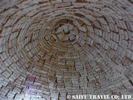塩のホテル パラシオ・デ・サルの塩のブロックでできた天井