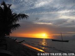 カリブ海に沈む夕陽