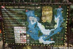 ドスオーホスセノーテの地図
