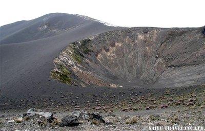 カメルーン山山頂
